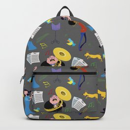 Musicians. Backpack
