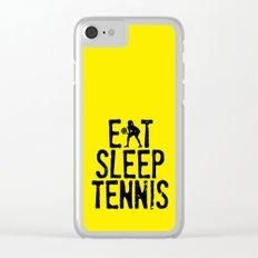 Eat Sleep Tennis Clear iPhone Case