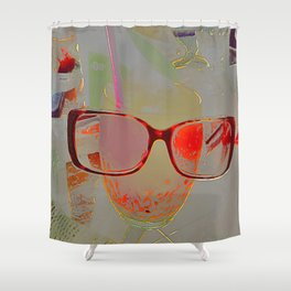 series drink - Orange drink Shower Curtain