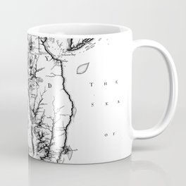 Vintage Map of The Chesapeake Bay (1719) BW Coffee Mug