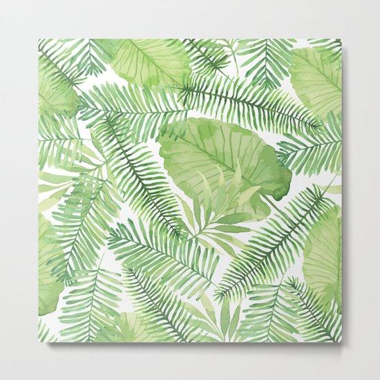 Tropical Branches Pattern 09 Metal Print