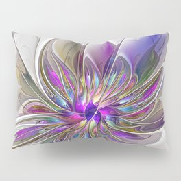 Energetic, Abstract And Colorful Fractal Art Flower Pillow Sham
