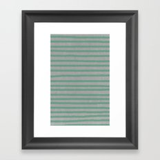 Concrete & Stripes Framed Art Print