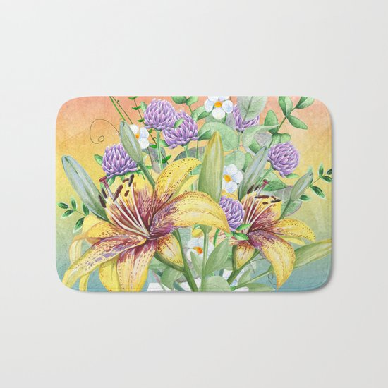 Flowers bouquet #17 Bath Mat