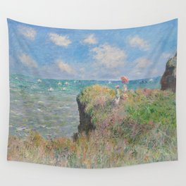 Claude Monet - The Cliff Walk at Pourville.jpg Wall Tapestry