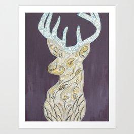 deer olive Art Print