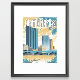 Vintage Grand Rapids Framed Art Print