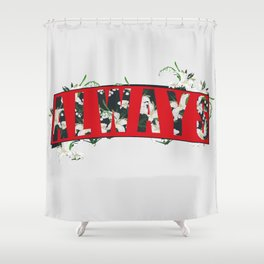 Always Lily Floral Shower Curtain
