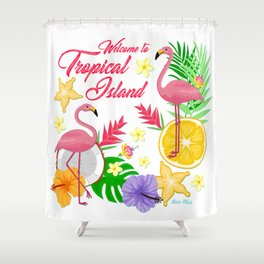 Welcome to topical Island Shower Curtain