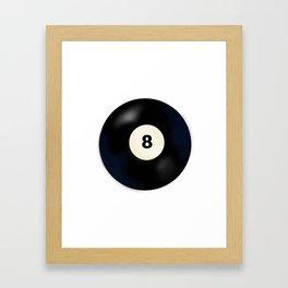 8 Ball Framed Art Print