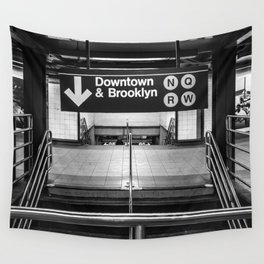 Downtown New York City Subway Wall Tapestry