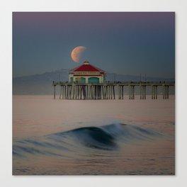 2018 Super Blue Moon Lunar Eclipse Canvas Print