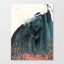Sapphire an Gold Abstract [2] by Alyssa Hamilton Art Canvas Print
