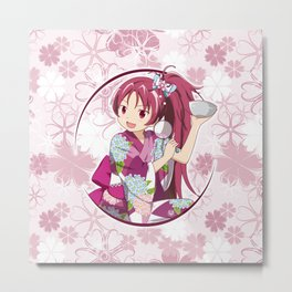 Kyoko Sakura - Yukata edit. (rev. 1) Metal Print