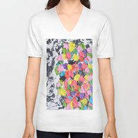carnival V-neck T-shirts featuring Carnival  by Laura Jane Mitbrodt