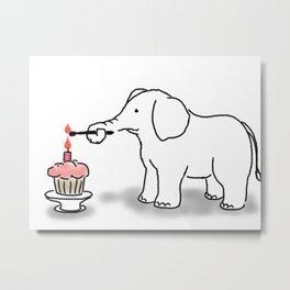 Elephant's Birthday Bash Metal Print