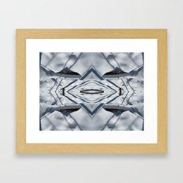 Snow Lines Framed Art Print