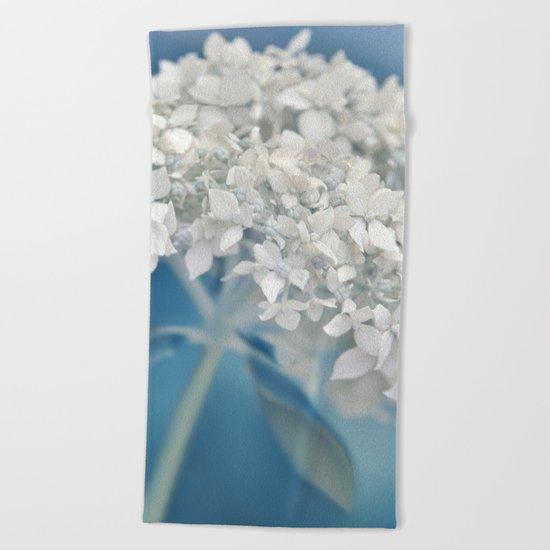 Beautiful White Hydrangea 276 Beach Towel