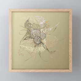 50 Shades of lace Gold Gold Framed Mini Art Print