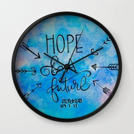 Hope and a Future Wall Clock