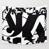 type Wall Tapestries featuring TYPE by Maria Sinisterra