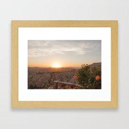 Sunset Over Rose Valley, Cappadocia Framed Art Print