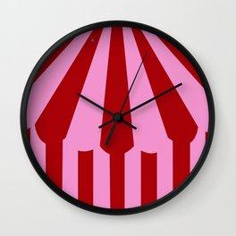 pink tent Wall Clock