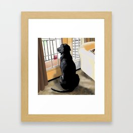 Ajax Watches the World Go By Framed Art Print