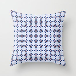 """Blue """"Coat of Arms"""" Pattern Throw Pillow"""