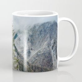 A Pine Tree Surrounded by Mountains in Austria. || Schneealpe, Österreich Coffee Mug