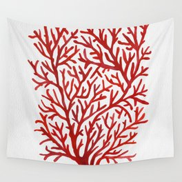 Red Coral Wall Tapestry