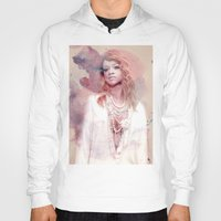 rihanna Hoodies featuring Rihanna by Kanelko
