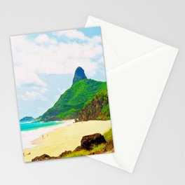 Morro do Pico Painting View Stationery Cards