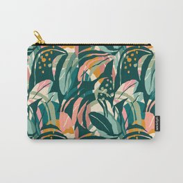 Minimalist jungle leaves pattern Carry-All Pouch