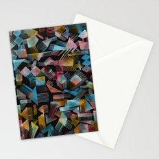 Geometric shapes (Black) Stationery Cards