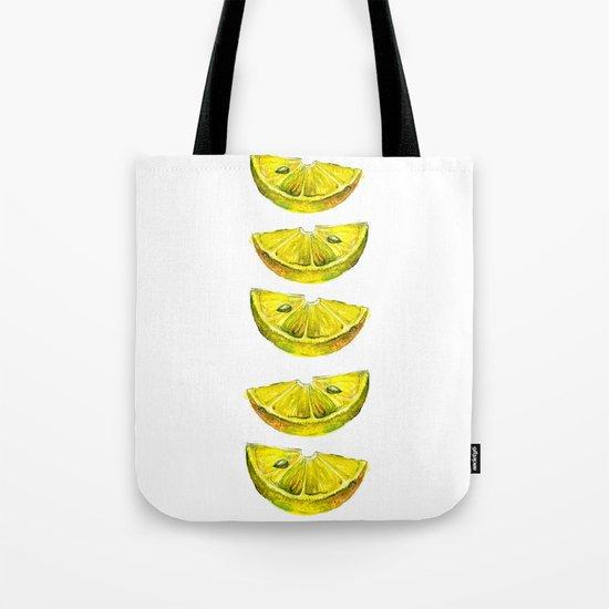 Lemon Slices White Tote Bag