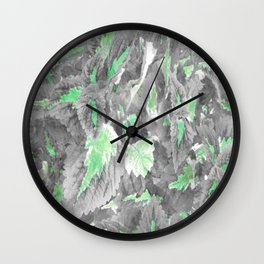 botanical coleus leaves camouflage art 3/3 Wall Clock