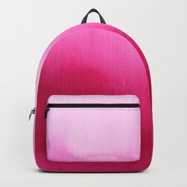 Modern fuchsia watercolor paint brushtrokes Backpack