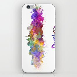 Durban skyline in watercolor iPhone Skin