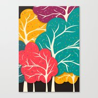 jazzberry Canvas Prints featuring Happy Forest by Danny Ivan