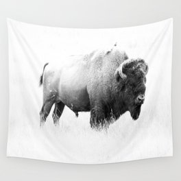 Bison - Monochrome Wall Tapestry