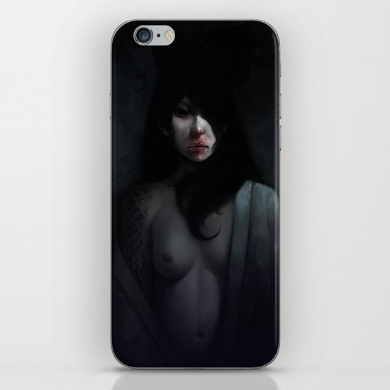 Portrait of Ikuko's Ghost iPhone & iPod Skin