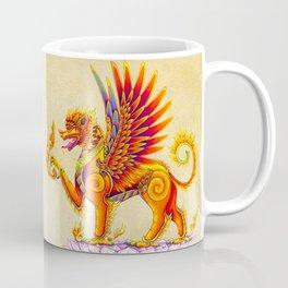 Singha Winged Lion Temple Guardian Coffee Mug