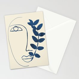 Abstract Face 5 Stationery Cards