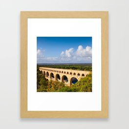 Pont du Gard, Languedoc-Roussillon Framed Art Print