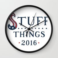 politics Wall Clocks featuring Politics? by Zach Higgins