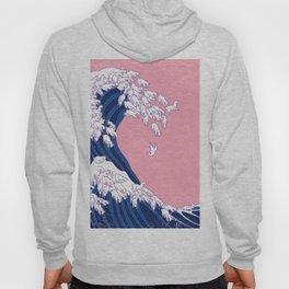 Llama Waves in Pink Hoody
