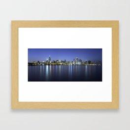 Chicago Skyline Dusk Panorama Framed Art Print