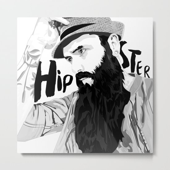 Hipster Metal Print