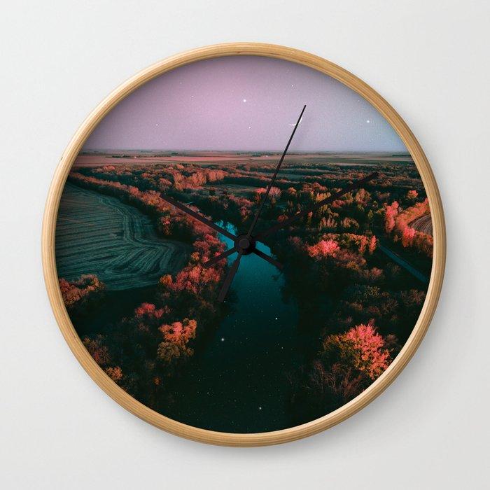 north dakota fall Wall Clock